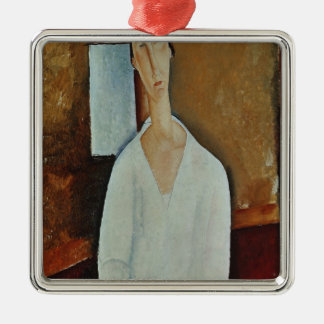 Madame Zborowska with Clasped Hands, c.1917 Christmas Ornament