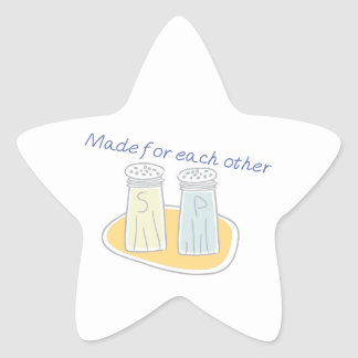 Made for each other star stickers