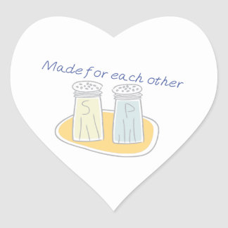 Made for each other heart sticker
