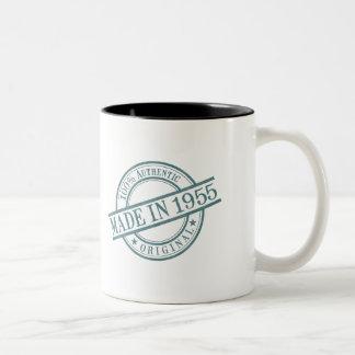 Made in 1955 Circular Stamp Style Logo Two-Tone Coffee Mug