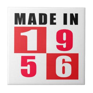 Made In 1956 Birthday Designs Ceramic Tile