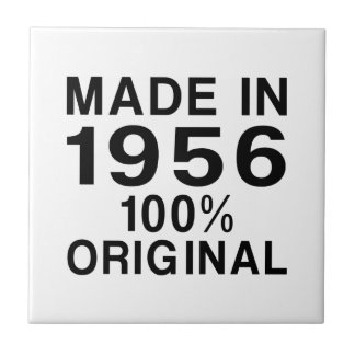 Made in 1956 small square tile