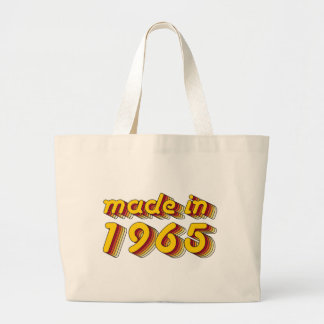 Made in 1965 (Yellow&Red) Large Tote Bag