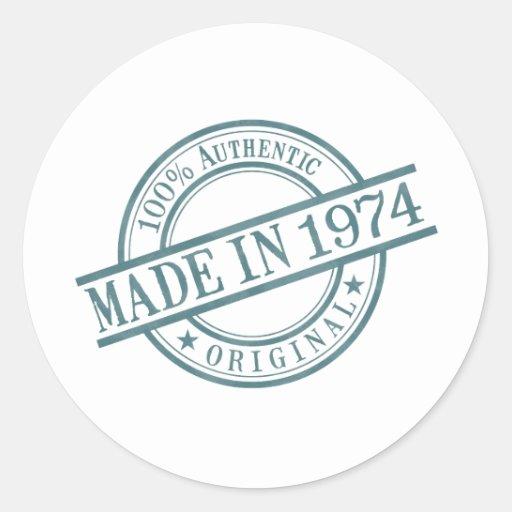 Made in 1974 sticker