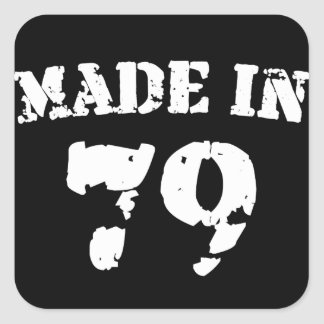 Made In 1979 Square Sticker