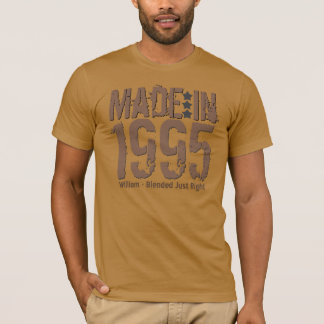 Made in 1995 or Any Year Grunge Text MOCHA T-Shirt
