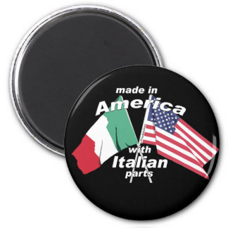Made In America With Italian Parts 6 Cm Round Magnet