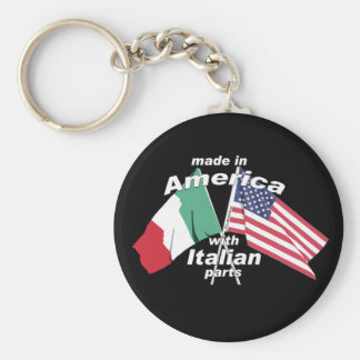 Made In America With Italian Parts Basic Round Button Key Ring