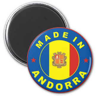 made in andorra country flag label magnet