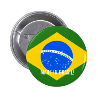 MADE IN BRASIL STICKER!! 6 CM ROUND BADGE