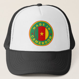made in cameroon country flag product label round trucker hat
