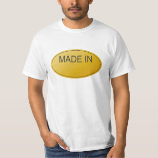 Made in... Customizable Fill in the Blank Tshirt