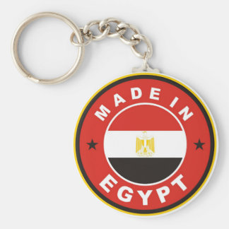 made in egypt country flag label round stamp basic round button key ring