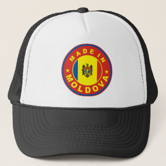 made in moldova country flag product label round trucker hat