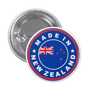 made in new zealand country flag product label 3 cm round badge