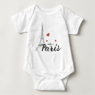 Made in Paris With Eiffel Tower Baby Bodysuit