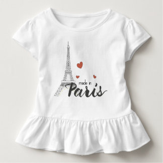 Made in Paris With Eiffel Tower Toddler T-Shirt
