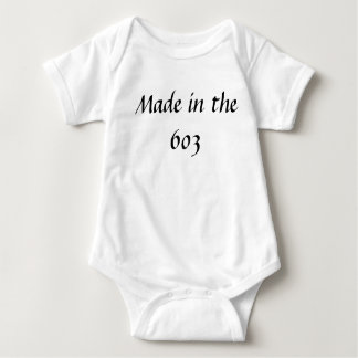 Made in the 603 /baby baby bodysuit