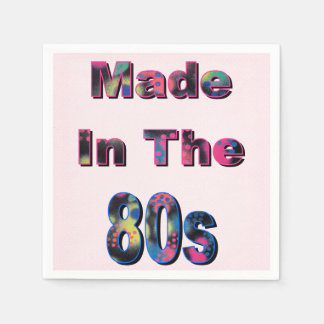 Made in the 80s paper serviettes
