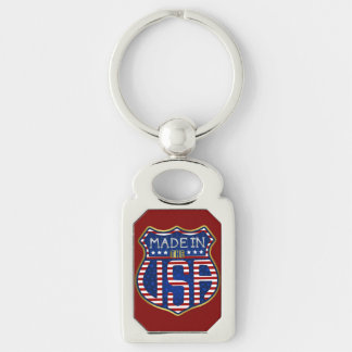 Made in the USA 4th of July Proud American Logo Key Ring