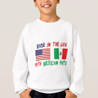 Made In USA With Mexican Parts Kids Sweatshirt