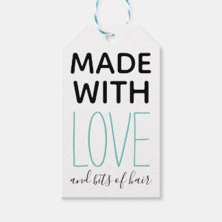 Made with Love and Bits of Hair Handmade Funny Gift Tags