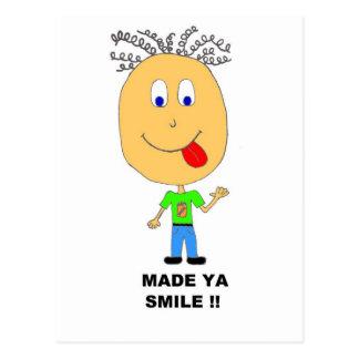 made ya smile postcards