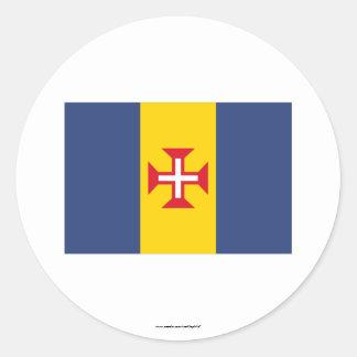 Madeira Flag Classic Round Sticker
