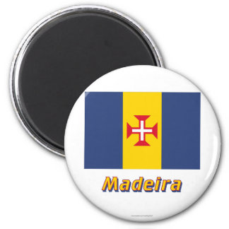 Madeira Flag with Name Magnet