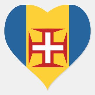madeira heart sticker