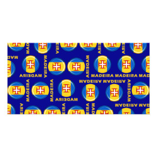 Madeira islands flag personalized photo card