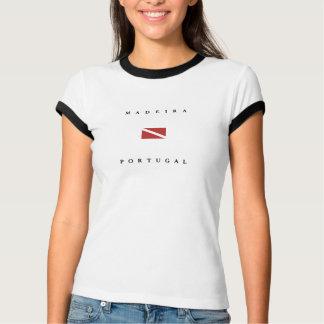 Madeira Portugal Scuba Dive Flag T-Shirt