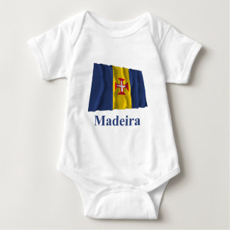 Madeira Waving Flag with Name Baby Bodysuit