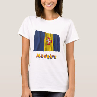 Madeira Waving Flag with Name T-Shirt