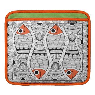 Madhubani 4 Fish iPad Sleeve
