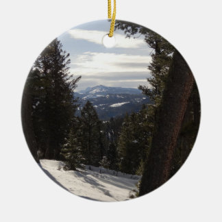 Madison Mountains in Winter in Montana Christmas Ornament