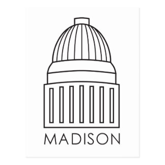 Madison Wisconsin Capitol Building Postcard