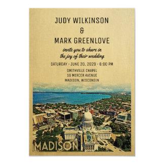 Madison Wisconsin Wedding Invitation Vintage