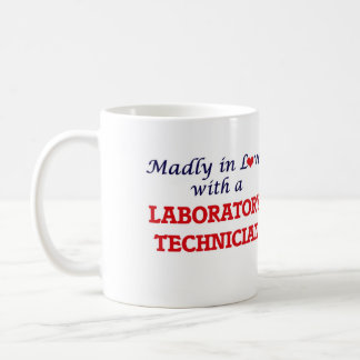 Madly in love with a Laboratory Technician Basic White Mug