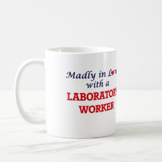 Madly in love with a Laboratory Worker Basic White Mug