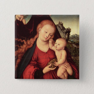 Madonna and Child 15 Cm Square Badge