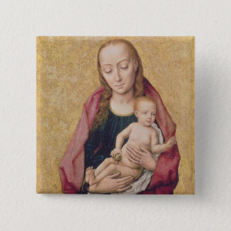 Madonna and Child 2 15 Cm Square Badge