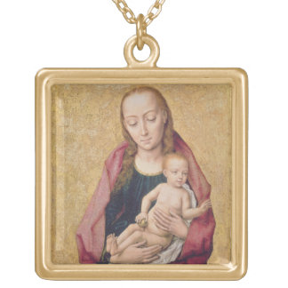 Madonna and Child 2 Gold Plated Necklace