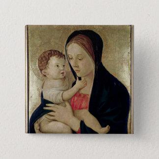 Madonna and Child, c.1475 15 Cm Square Badge