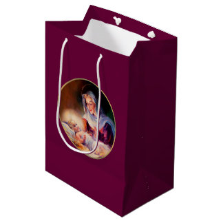 Madonna and Child. Fine Art Christmas Gift Bags