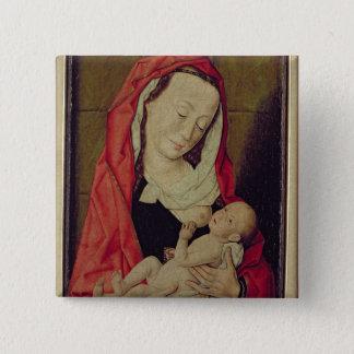 Madonna and Child (panel) 15 Cm Square Badge