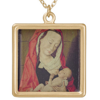 Madonna and Child (panel) Gold Plated Necklace