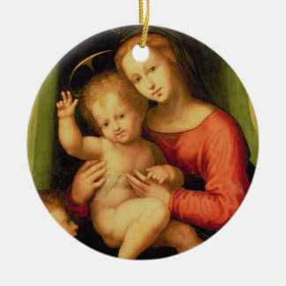 Madonna and Child with St. John Christmas Ornament