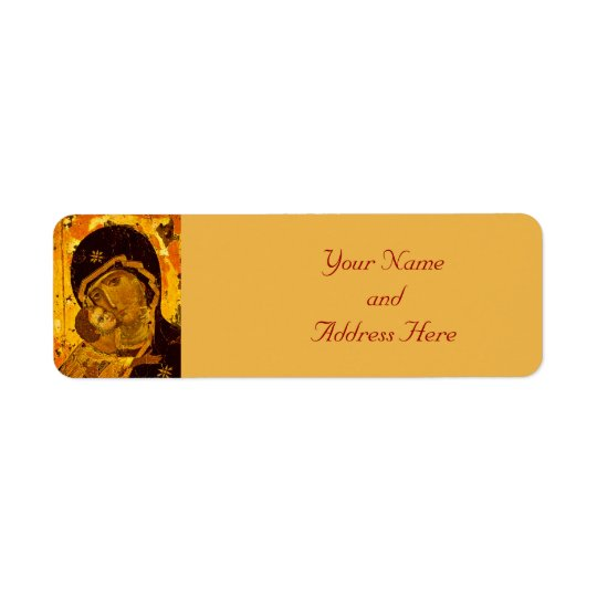 Madonna & Child Christmas Return Address Labels