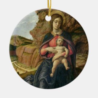 Madonna of the Cave, 1488-90 (tempera on panel) Christmas Ornament